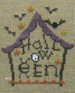 Bent Creek - District 13 - House of Bats - Snapper - Cross Stitch Pattern-Bent Creek, District 13, House of Bats,  Snapper, Halloween, haunted house, Cross Stitch Pattern
