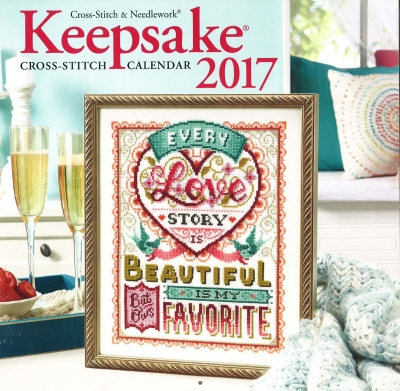 Cross Stitch & Needlework Keepsake Calendar 2017