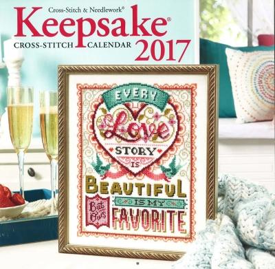 Cross Stitch & Needlework Keepsake Calendar 2017