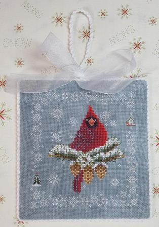 Blackberry Lane Designs - When Cardinals Appear-Blackberry Lane Designs - When Cardinals Appear, birds, winter bird, Christmas, winter, cross stitch