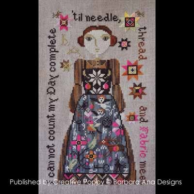 Barbara Ana Designs - My Favorite Apron - Cross Stitch Chart