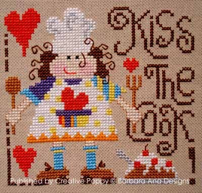 Barbara Ana Designs - Kiss the Cook - Cross Stitch Chart