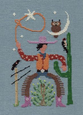 Ink Circles - Beau Leggy - Cross Stitch Pattern