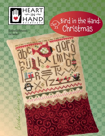 Heart in Hand Needleart - Bird in the Hand Christmas-Heart in Hand Needleart - Bird in the Hand Christmas, ornament, decoration, cross stitch