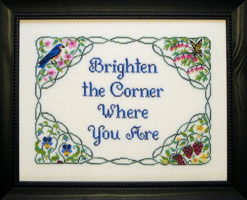 The Needle's Notion - Brighten the Corner - Cross Stitch Pattern