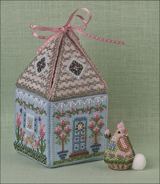 Just Nan - Cloverly's Bunny Bungalow-Just Nan - Cloverlys Bunny Bungalow, spring, bunnies, home, cross stitch