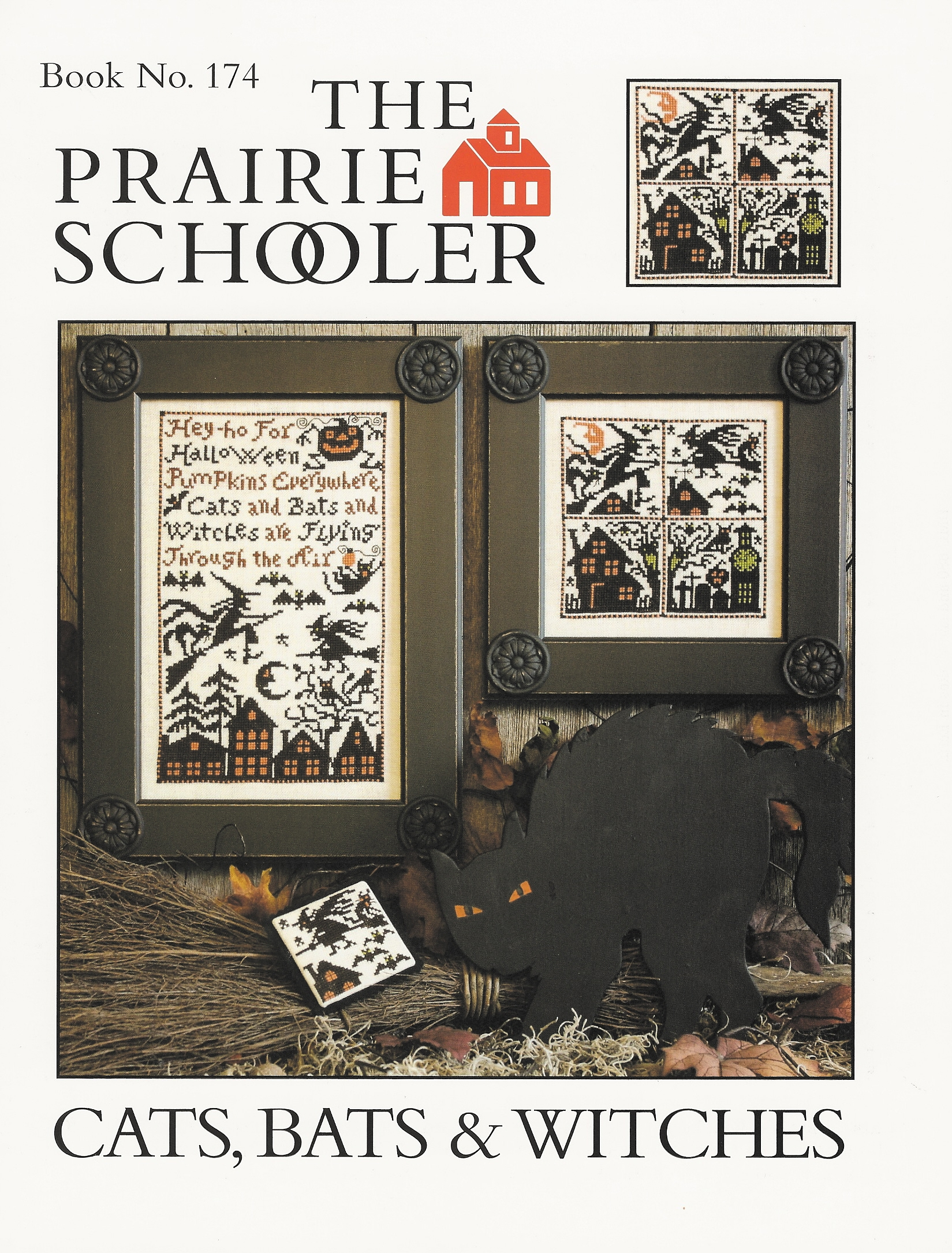 Prairie Schooler - Cats, Bats & Witches Cross Stitch Pattern