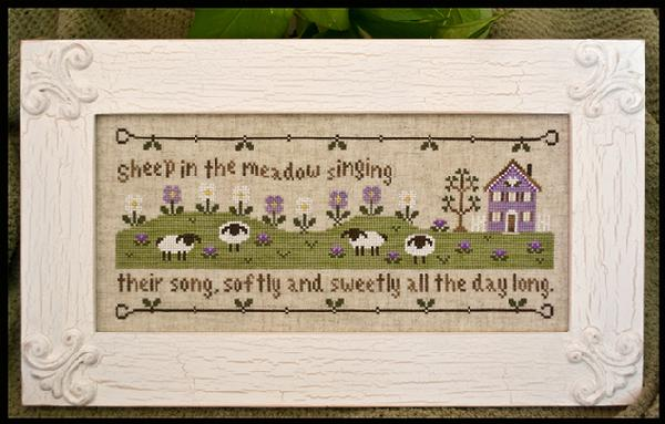 Country Cottage Needleworks - Sheep in the Meadow - Cross Stitch Pattern