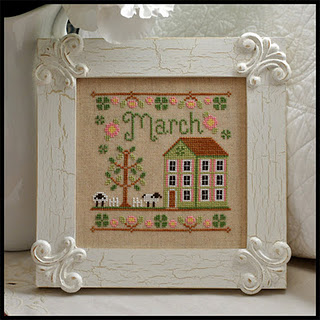 Country Cottage Needleworks - Cottage of the Month 03 - March Cottage - Cross Stitch Pattern-Country Cottage Needleworks - Cottage of the Month 3 - March Cottage - Cross Stitch Pattern