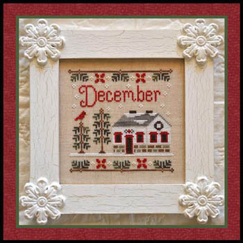 Country Cottage Needleworks - Cottage of the Month 12 - December Cottage - Cross Stitch Pattern