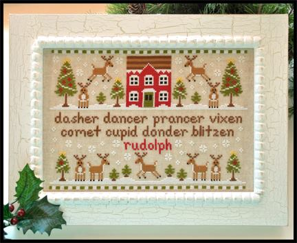 Country Cottage Needleworks - Reindeer Games - Cross Stitch Pattern