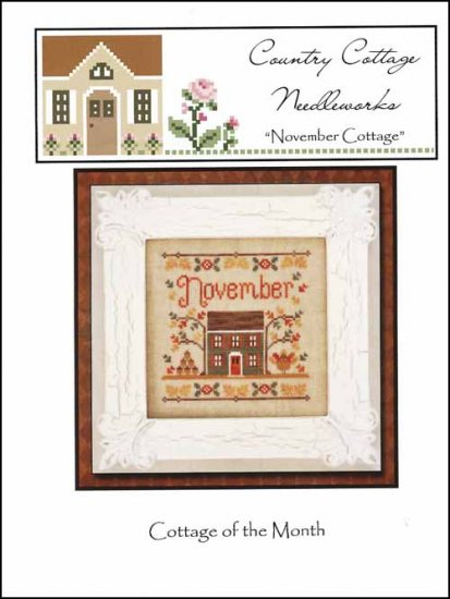 Country Cottage Needleworks - Cottage of the Month 11 - November Cottage - Cross Stitch Pattern