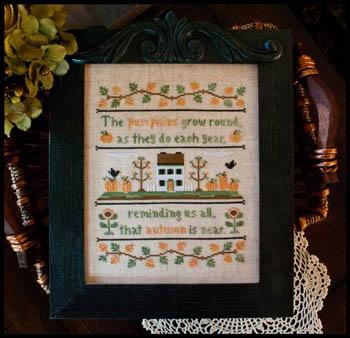 Country Cottage Needleworks - Autumn Pumpkins - Cross Stitch Pattern
