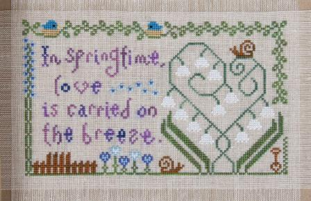 Cottage Garden Samplings - My Garden Journal - Part 05 of 12 - May's Lily of the Valley - Cross Stitch Pattern