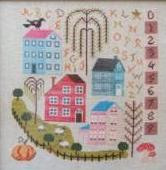 Cottage Garden Samplings - Autumn In The Village - Cross Stitch Pattern