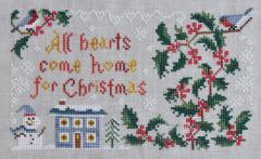 Cottage Garden Samplings - My Garden Journal - Part 12 of 12 - December's Holly - Cross Stitch Pattern