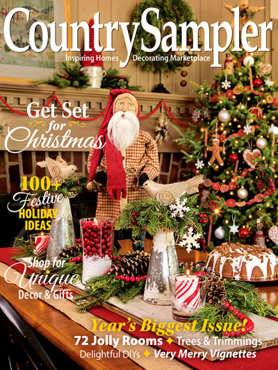 Country Sampler Magazine - 2017 November-Country Sampler Magazine - 2017 November, Christmas, decorating, home, cross stitch, crafts,