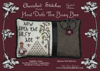 Cherished Stitches - How Doth the Busy Bee - Limited Edition Kit-Cherished Stitches - How Doth the Busy Bee - Limited Edition Kit - bees, bee hive, cross stitch kit,