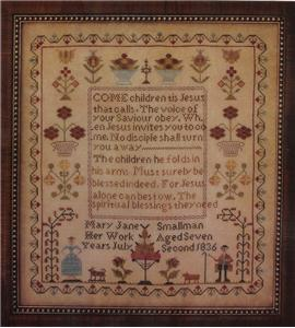 Country Stitches - Mary Jane Smallman, 1836 - Cross Stitch Pattern