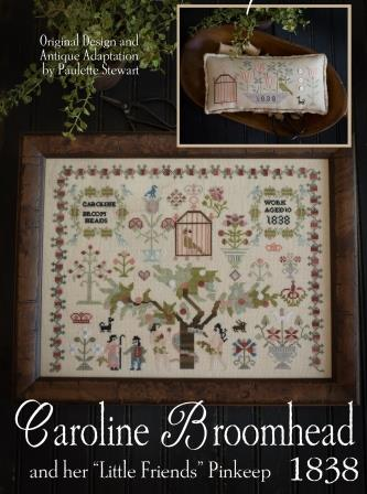 Plum Street Samplers - Caroline Broomhead 1838-Plum Street Samplers - Caroline Broomhead 1838, samplers,  Adam  Eve, Garden of Eden, cross stitch