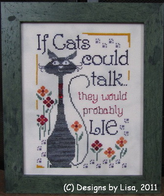 Designs by Lisa - If Cats Could Talk - Cross Stitch Pattern