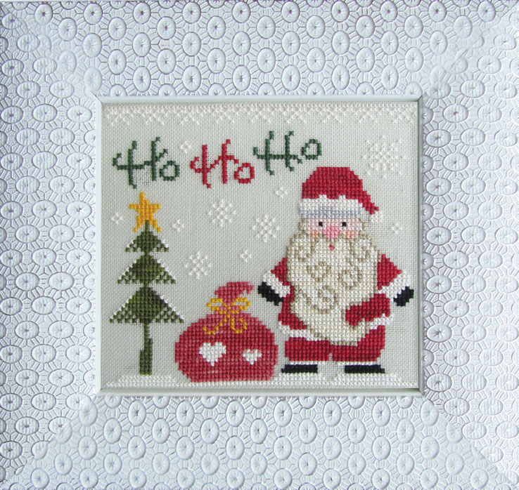 Cottage Garden Samplings - Christmas Love - Ho Ho Ho - Cross Stitch Pattern