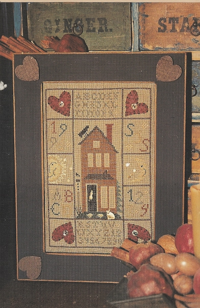 Homespun Elegance - Purely Samplers - Contented House Sampler - Cross Stitch Pattern
