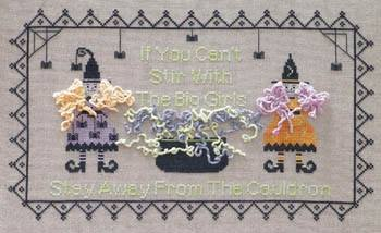 Dames of the Needle - Bling From The Cauldron - Cross Stitch Pattern