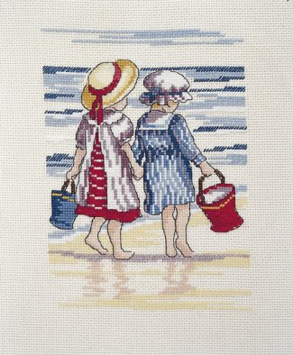 DMC - All our Yesterdays Collection - Shell Seekers - Cross Stitch Kit