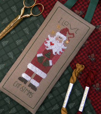 The Drawn Thread - I Love Christmas Holiday Hanger - Cross Stitch Pattern