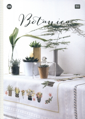 Rico Design - Botanica-Rico Design - Botanica, plants, flowers, greenery, shrubs, patterns, towels, tablecloths, cross stitch