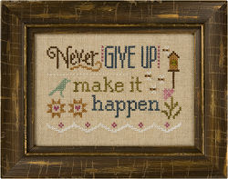 Lizzie Kate - 3 Little Words Flip-it Series - 4 of 7 - Never Give Up