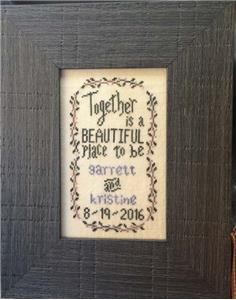 From The Heart - Needleart by Wendy - Wedding Sampler