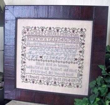 From The Heart - Frances Carter Sampler - Cross Stitch Pattern