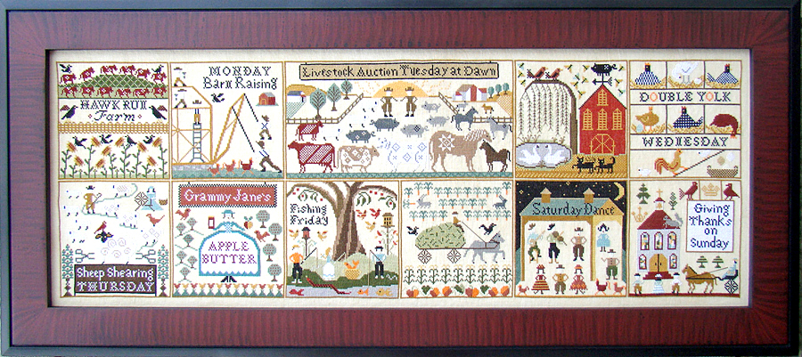 Carriage House Samplings - The Farms of Hawk Run Hollow - Cross Stitch Pattern