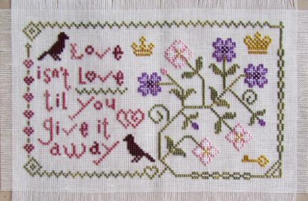 Cottage Garden Samplings - My Garden Journal - Part 02 of 12 - February's Primrose - Cross Stitch Pattern