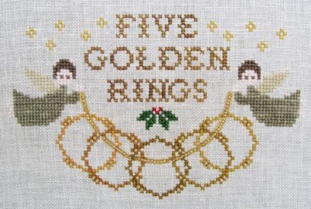 Cottage Garden Samplings - 12 Days of Christmas - #05 - Five Golden Rings