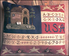 Homespun Elegance - Plain and Fancy Collection - Flag Sampler - Cross Stitch Pattern