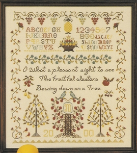 Rosewood Manor - Fruitful Clusters Sampler - Cross Stitch Chart