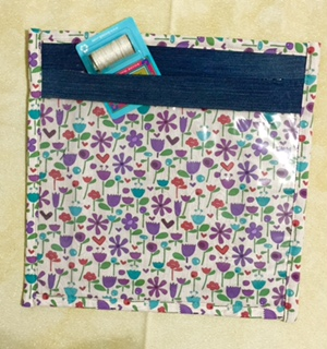 Jeans Pocket Project Bag - Flower Bag