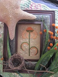 By The Bay Needleart - Funky Flowers - Erica - Cross Stitch Chart