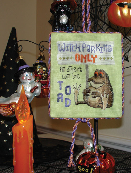 Glendon Place - Witch Parking Only - Cross Stitch Pattern