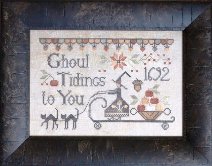 Plum Street Samplers - Ghoul Tidings - Cross Stitch Pattern