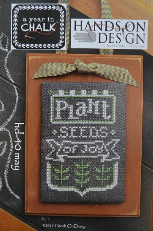Hands On Design - A Year in Chalk - Part 5 - May - Cross Stitch Pattern