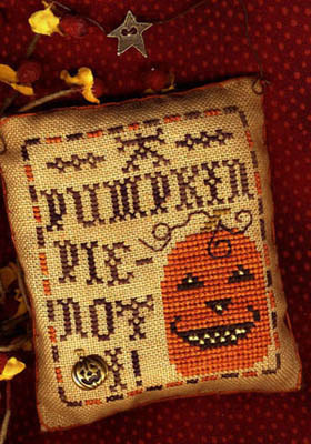 Homespun Elegance - A Halloween Year - September - Not  I - Cross Stitch Pattern