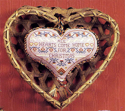 Homespun Elegance - Merry Noel Collection - All Hearts Come Home for Christmas - Cross Stitch Pattern