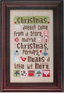 Heart in Hand Needleart - Christmas Means More - Cross Stitch Pattern