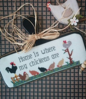 Twin Peak Primitives - Home is Where My Chickens Are-Twin Peak Primitives - Home is Where My Chickens Are, Farm, eggs, farmer, cross stitch,