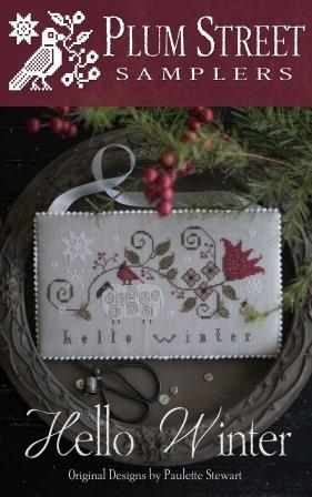 Plum Street Samplers - Hello Winter-Plum Street Samplers - Hello Winter, snow, cold, winter, seasons, cross stitch