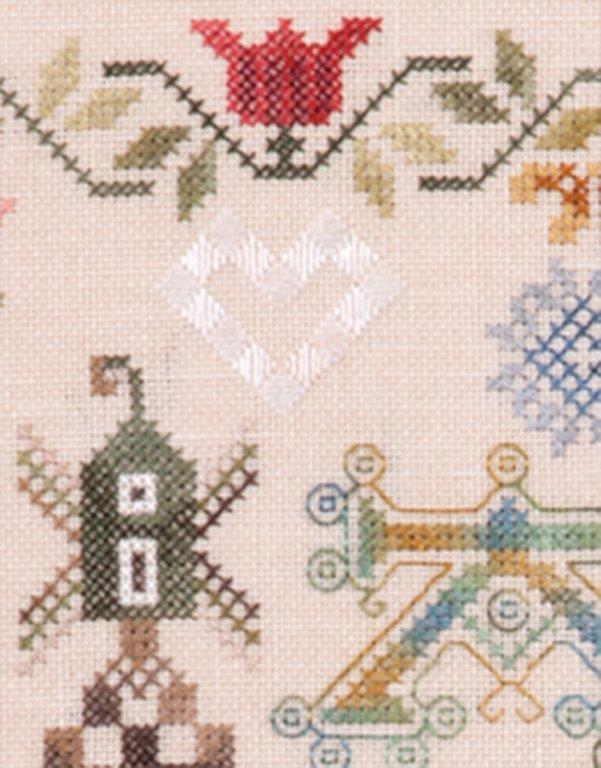 Jeannette Douglas Designs - Hollandse Merklap - Cross Stitch Pattern